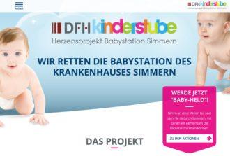 """Unter www.dfh-kinderstube.de informiert eine neue Internetseite über die laufenden Fortschritte bei der Modernisierung, die Initiatoren und die vielen Möglichkeiten, wie DFH-Mitarbeiter das Herzensprojekt als """"Baby-Held"""" unterstützen können."""